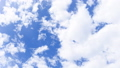 Blue sky and white clouds, time lapse 40857238