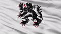 Closeup Binche city flag, Belgium 40880425