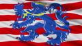 Closeup Bruges city flag, Belgium 40880433