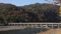 11月秋 紅葉の嵐山渡月橋の朝  京都の秋景色 40927988