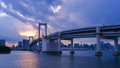 Tokyo Odaiba From evening to night, time lapse. 41015441
