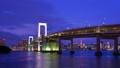 Night view of Tokyo Odaiba, time lapse. 41015442