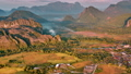 Aerial mountain valley sunrise view 41019017