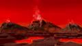真っ赤な火山 噴煙 41039445