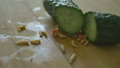 Worms Crawling over a Cucumber 41042136