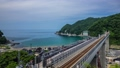 余部鉄橋의 시간 경과 동영상 가스미 아마 루베 철교의 미세 속도 촬영 빈 역 천공의 역 41159542