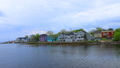 Timelapse colorful buildings of Mahone Bay 41213053