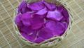 Rotating wicker basket full of wild rose petals 41457298