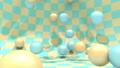 アブストラクト 背景 跳ねる黄色と青のボール 41464434