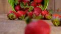 Fresh strawberries falling from bucket  41502301