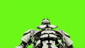 Robot android is presses the button. Realistic looped motion on green screen background. FullHD. 41693643