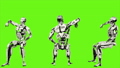 Robot android is cheering while sitting. Realistic looped motion on green screen background. FullHD. 41693644