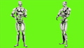 Robot android is arm stretching. Realistic looped motion on green screen background. FullHD. 41693646