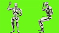 Robot android is asking question. Realistic looped motion on green screen background. FullHD. 41693649