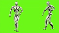 Robot android is dancing hip hop. Realistic looped motion on green screen background. FullHD. 41693650