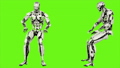 Robot android is banging fist. Realistic looped motion on green screen background. FullHD. 41693652