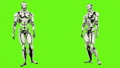 Robot android is agreeing. Realistic looped motion on green screen background. FullHD. 41693653