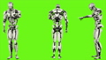 Robot android is entering code. Realistic looped motion on green screen background. FullHD. 41709579