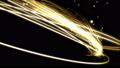 光の曲線 光エフェクト スクリーン合成用 黄 41750656