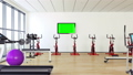 Tv with track green screen  in Modern Gym 41827470