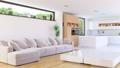 Livingroom house interior with Kitchen 41827649