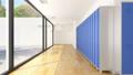 School Hallway with Blue Lockers 41827729