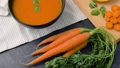 close up of vegetable pumpkin cream soup in bowl 41924526