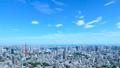 東京・タイムラプス・定番風景・初夏の爽やかな青空と緑が点在する都心全景・ズームイン 41964394