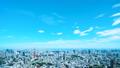 東京・タイムラプス・定番風景・初夏の爽やかな青空と緑が点在する都心全景・カラーグレーディング 41964396