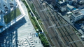 東京・タイムラプス・俯瞰・行き交う群衆と鉄道・テイルト 41964412