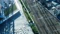 東京・タイムラプス・俯瞰・行き交う群衆と鉄道・ズームイン 41964413