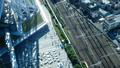 東京・タイムラプス・俯瞰・行き交う群衆と鉄道・FIX 41964414
