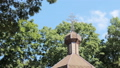The domes of an ancient wooden Orthodox church. Cross at the top 41998692