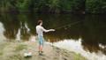 川岸 川 釣りの動画 42092077