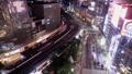 黄昏的东京夜景有乐町,银座时间流逝缩小 42139997