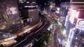 黄昏的东京夜视图有乐町,银座时间间隔倾斜下来 42140000