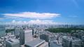 美丽的东京风景·时间流逝·Aozora和绿色·夏天·新宿欲望·市中心全景·向上倾斜 42238946