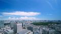 美丽的东京风景·时间流逝·蓝天绿色·夏天·新宿欲望·城市全景·修复 42238948