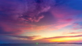 Beautiful colorful purple pink sunset over ocean 42301922