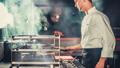 Cooking beef steak in the kitchen modern interior 42301925