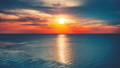 Beautiful sunset over ocean with sun reflection 42301949