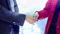 Partners shaking hands concept with cloud rotate 42318546
