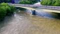 増水する川(空撮 フィクス撮影) 42406814