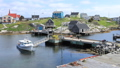 Timelapse colorful buildings Peggys Cove, Canada 42455258