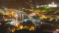 Tbilisi cityscape night traffic 42552583