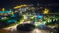 Tbilisi cityscape night traffic 42552584