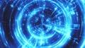 鮮豔細緻的環狀科技光束在黑色背景,無限循環。(Full HD 超高畫質,高分辨率 CG 渲染∕著色動 42566690
