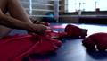 tying, shoelaces, woman 42571729