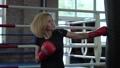 woman, punchbag, training 42571900