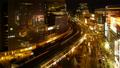 东京银座有乐町时间流逝夜景从夜景在充满活力的城市的城市面部表情长时间摄影Tiltoda 42645078